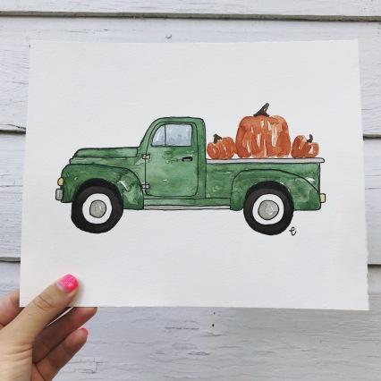 pumpkins watercolor